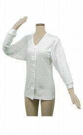 婦人用肌着 テイコブらくホック肌着長袖 女性用S/M/L(綿100% ホックタイプ 介護衣類)UN07W介護用品