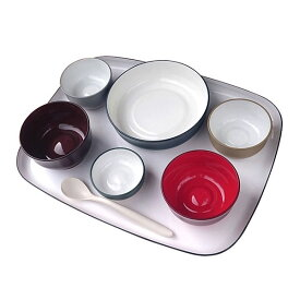 (代引き不可) 五感で楽しむ自立支援食器IROHA iroha01 フルセット 大成樹脂工業 (介護 食器) 介護用品