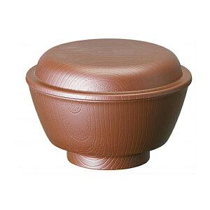 木目 ふわっとフタ付汁碗 NBLS2F ブラウン スケーター (介護 食器 汁碗) 介護用品
