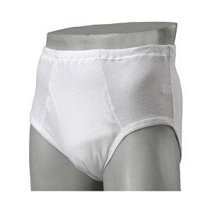 安心パンツ ブリーフ50 紳士用 H4854C ホワイト S M L LL ニシキ(男性用失禁パンツ 紳士用尿漏れパンツ)介護用品