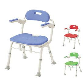 アロン化成 安寿 折りたたみシャワーベンチ ISフィット 536-105 536-106 536-108 ( 介護用 風呂椅子 介護 浴室 椅子 チェア 折りたたみ 肘掛け椅子) 介護用品