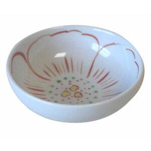 小鉢 色赤絵 卵割 (10.5cm)業務用 食器 国産 赤絵 食洗機対応 レンジ対応 たまご