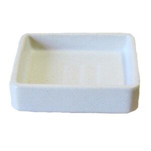 小皿 白マット 角皿 12.9cm 国産 業務用 食器