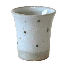ミニ湯呑 白粉引水玉 ミニコップ 湯呑国産 食器 業務用