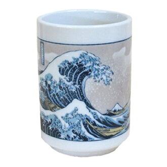 神奈川海上波浪背后中的寿司喝茶(国产)浮世绘系列