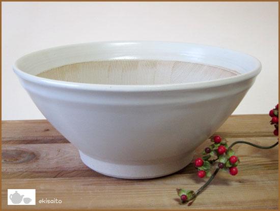 すり鉢 波紋 9号(27.3cm)白マット キッチン用品・食器・調理器具 スリ鉢