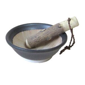 すり鉢 波紋 粋な黒 3号 10.0cm【山椒すりこぎ付】業務用 食器 調理器具
