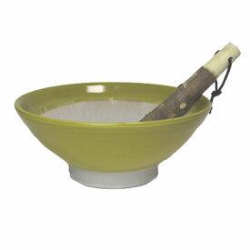 すり鉢 6号 カラー イエロー 18.5cm【山椒 すりこぎ付】調理器具 食器