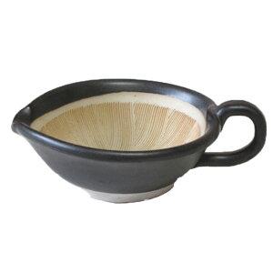 すり鉢 粋な黒 ごますり用手付き 小国産 業務用 食器 調理器具*
