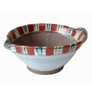 すり鉢 赤絵赤トクサ 5号 ごまだれ鉢 大キッチン用品 食器 調理器具