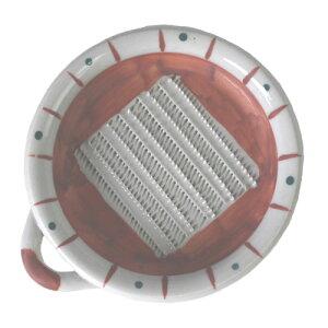 おろし皿 赤ダミ 大 14.5cm 調理器具 業務用 食器食洗機対応 レンジ対応 薬味 しょうが ワサビ