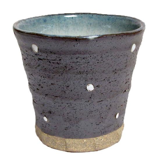 フリーカップ 黒一珍水玉 チューハイカップ 寿司湯呑