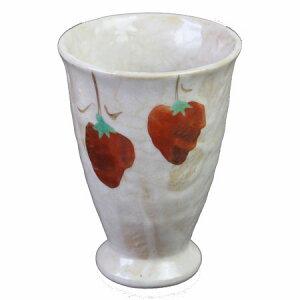 フリーカップ ピンク志野 柿 湯呑 コップ赤絵 国産 食器
