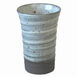 ビ−ル コップ 黒土そば釉 フリーップ 330cc 日本製業務用 食器 美濃焼