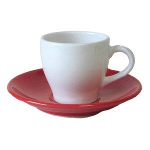 【美濃焼】グランデ赤コーヒー碗皿