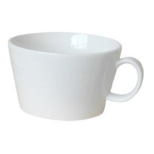 スープカップ プラット ホワイト 400cc国産 食洗機対応 レンジ対応 味噌汁 シリアル スープ コーヒー お碗 白