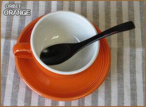 スープカップオレンジカフェラテカップ&ソーサー(容量415cc)国産/食洗機ok/レンジok/