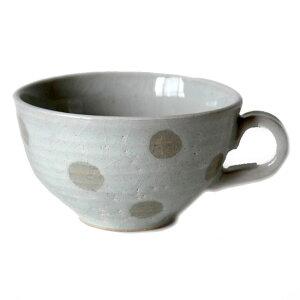 スープカップ 白粉引 水玉国産 食洗機 レンジ 味噌汁 お椀 和モダン プレゼント 和食器 おしゃれ 持ち手