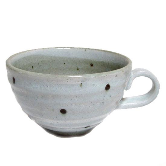 スープカップ 粉引水玉国産/食洗機ok/レンジok/