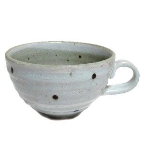 スープカップ 粉引水玉 国産業務用 食器 味噌汁 お プレゼント 和食器 おしゃれ 持ち手