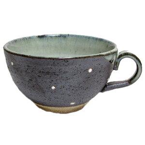 スープカップ 黒一珍水玉国産 食洗機 レンジ 味噌汁 お椀 和モダン プレゼント 和食器 おしゃれ 持ち手