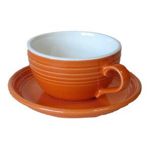 オレンジカフェラテカップ&ソーサー