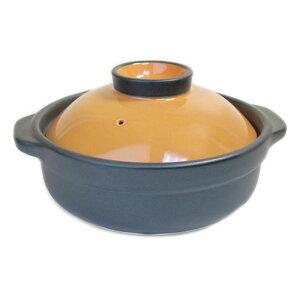 土鍋 IH 対応 8号 カラー ふたが オレンジ色【3〜4人用】日本製 業務用 調理器具 食器