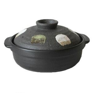 土鍋 ガス対応 7号 二色打ち【2人用】国産 調理器具 業務用 食器