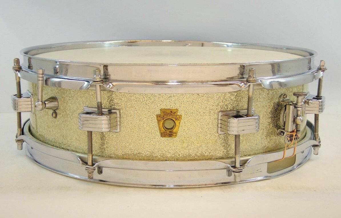 """【ヴィンテージ】Ludwig 1963s Downbeat Snare 14""""×4"""" #Preserial【送料無料】【お茶の水ドラムコネクション】(スネア)(ラディック)"""