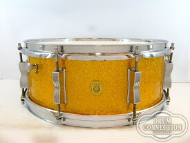 "Ludwig 【ヴィンテージ】1968s Jazz Festival Snare Gold Sparkle 14""×5.5"" #618682【送料無料】【お茶の水ドラムコネクション】(スネア)(ラディック)"
