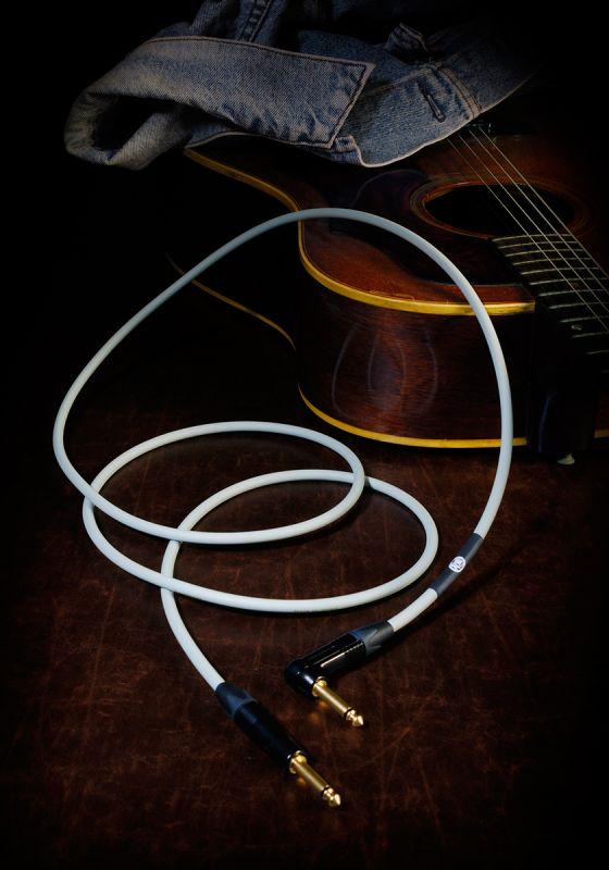 KAMINARI GUITARS Acoustic Cable K-AC3LS【3メートル S/L】【アコースティックギター向けケーブル/シールド】【神鳴・カミナリ】