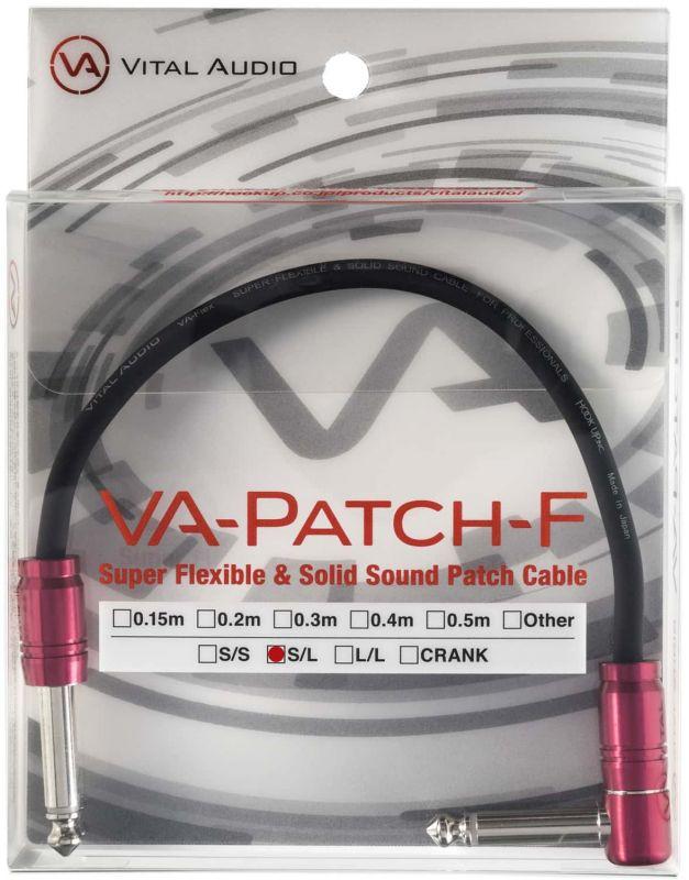 VITAL AUDIO バイタル・オーディオ VA-Patch-F 0.15m S/L 【15センチ S/L】【スーパー・フレキシブル&ソリッドサウンド・パッチケーブル】【国産・日本製】