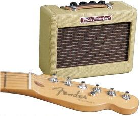 Fender フェンダー MINI '57 TWIN-AMP 【ギターアンプ】【ミニ・卓上】【1ワット】【ミニツインアンプ】【ツイード】