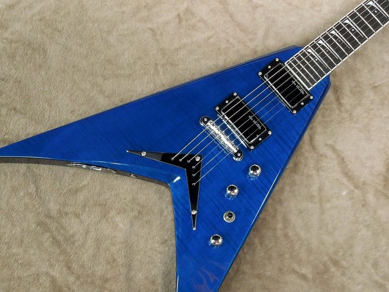 Dean V DAVE MUSTAINE LIMITED 【Trans Blue】【ディーン】【デイブ・ムスティン】【メガデス】【送料無料】