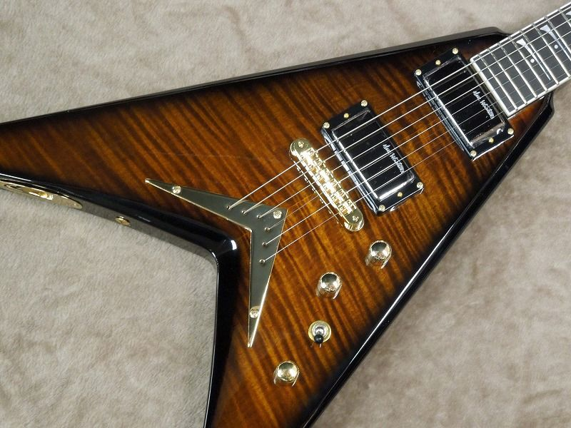 Dean V DAVE MUSTAINE LIMITED 【Tiger Eye】【ディーン】【デイブ・ムスティン】【メガデス】【送料無料】