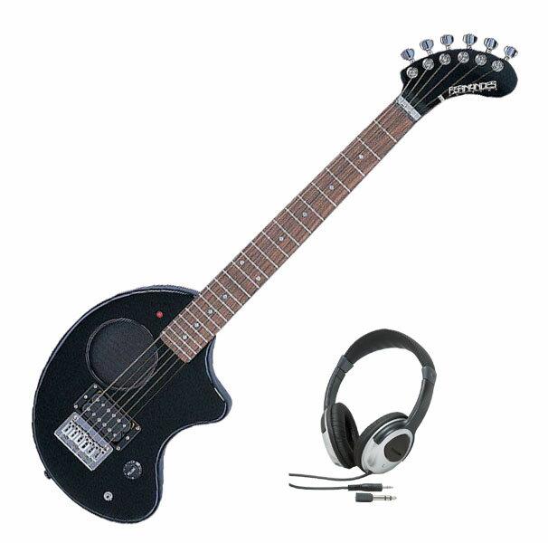Fernandes フェルナンデス ZO-3 '11 W/SC BLACK【ブラックカラー】【ヘッドホンサービス】【アンプ内蔵ギター】【ZO-3シリーズ】【ソフト・ケース付】【送料無料】