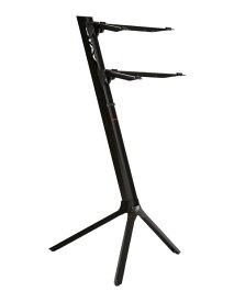 【2級品アウトレット!!】STAY(ステイ)1100/2 S BK Keyboard Stand【Black/ブラックカラー】 【アームバーが真っ直ぐのタイプ】【〜61鍵盤用 キーボード・スタンド/2段】【1100/02 Slim】【数量限定】【送料無料】
