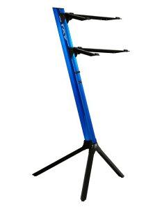 STAY(ステイ)1100/2 S BL C290 Keyboard Stand【Blue/ブルーカラー】【アームバーが内側にカーブ・角度付きのタイプ】 【〜61鍵盤用 キーボード・スタンド/2段】【1100/02 Slim】【送料無料】