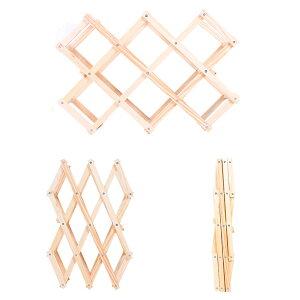 おしゃれなワインラック木製折りたたみ式10本用インテリア/ホルダー