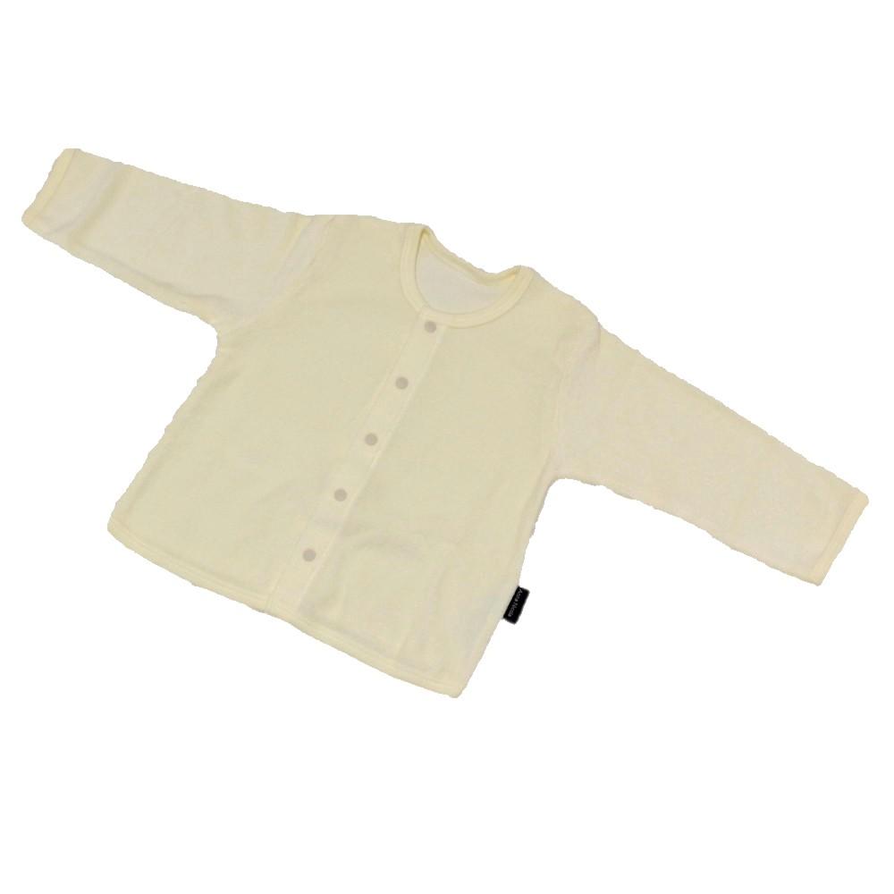 日本製 ふわりパイルカーディガン(クリーム)ベビー シンカーパイル 上着 あったか 羽織る 冷え防止 便利 えくぼちゃん srh