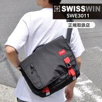 送料無料SWISSWINスイスウィンショルダーバッグ軽量12Lメンズ斜めがけバッグメッセージバッグ通学鞄アウトドアおしゃれ通勤防水swisswin