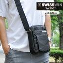 クーポン配布中!SWISSWIN 送料無料 スイスウィン ショルダーバッグ メンズ 斜めがけ ...