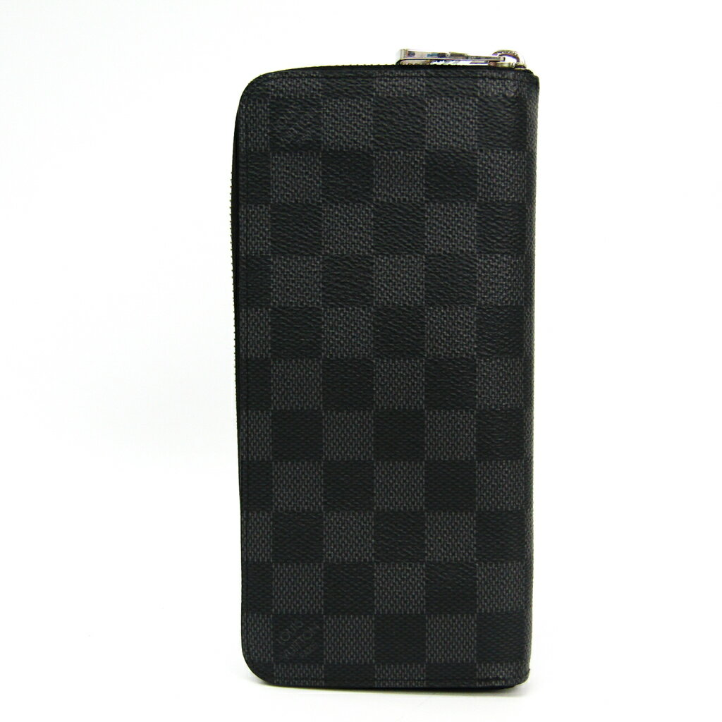 ルイ・ヴィトン(Louis Vuitton) ジッピーウォレットヴェルティカル N63095 メンズ レザー,ダミエグラフィット 長財布(二つ折り) ブラック,グレー 【中古】