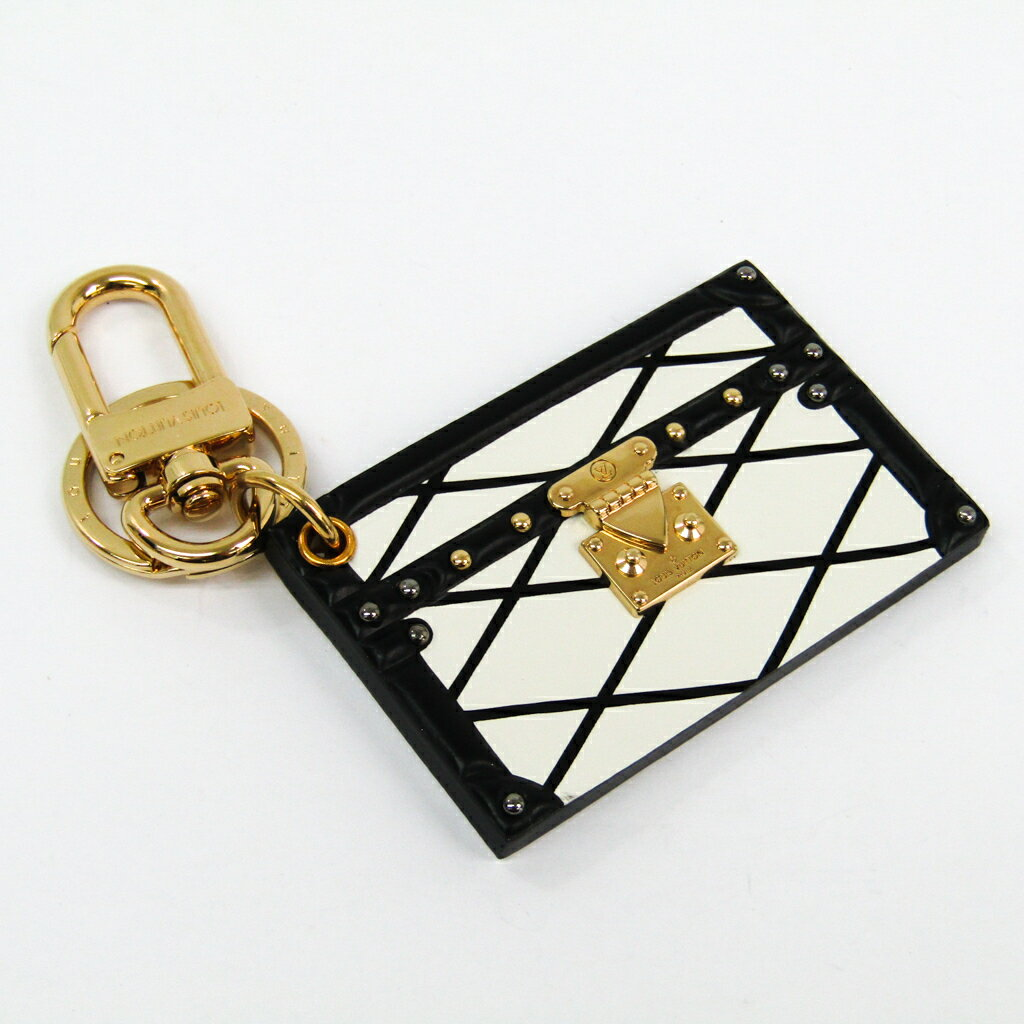 ルイ・ヴィトン(Louis Vuitton) キーホルダー (ホワイト,ブラック) プティット・マル M00004 【中古】
