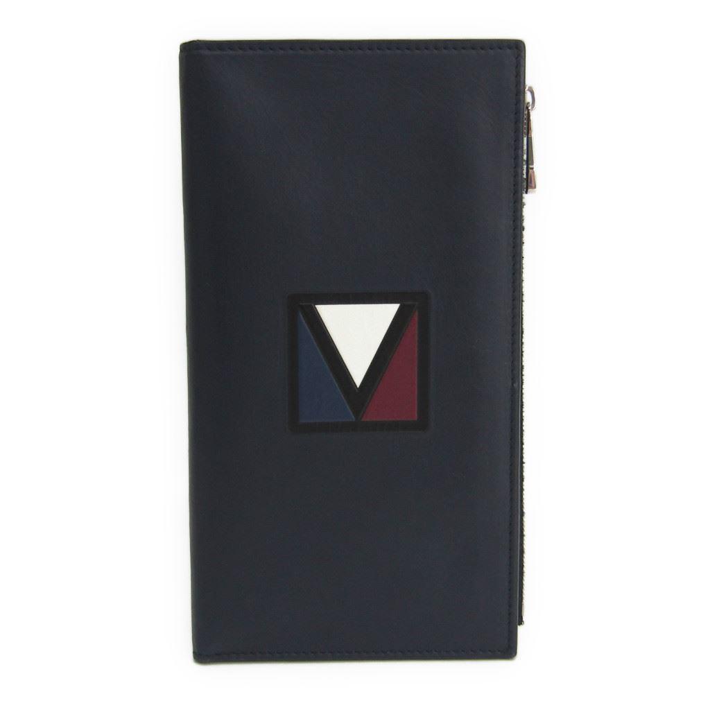 【中古】 ルイ・ヴィトン(Louis Vuitton) Eジップ ロング Vライン M61251 メンズ ネイビー 長財布(二つ折り)
