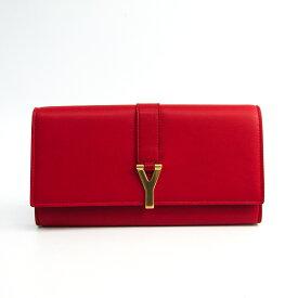 サン・ローラン(Saint Laurent) 314995 レディース レザー 長財布(二つ折り) レッド 【中古】