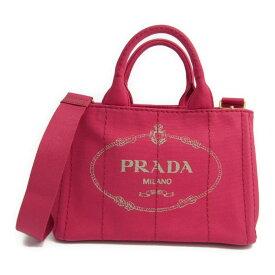 プラダ(Prada) カナパ B2439G レディース キャンバス トートバッグ Peonia(ぺオニア) 【中古】