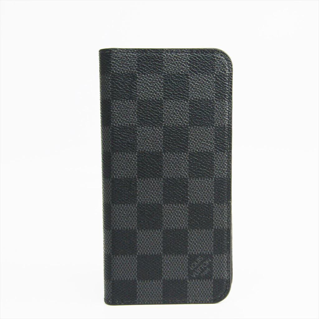 ルイ・ヴィトン(Louis Vuitton) ダミエ・グラフィット ダミエキャンバス 手帳型/カード入れ付きケース iPhone 7 Plus 対応 ダミエ・グラフィット フォリオ N63352 【中古】