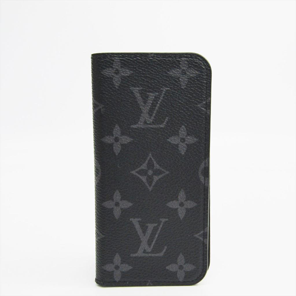 ルイ・ヴィトン(Louis Vuitton) モノグラム・エクリプス モノグラムエクリプス 手帳型/カード入れ付きケース iPhone 7 対応 モノグラムエクリプス iPhone 7フォリオ M62640 【中古】