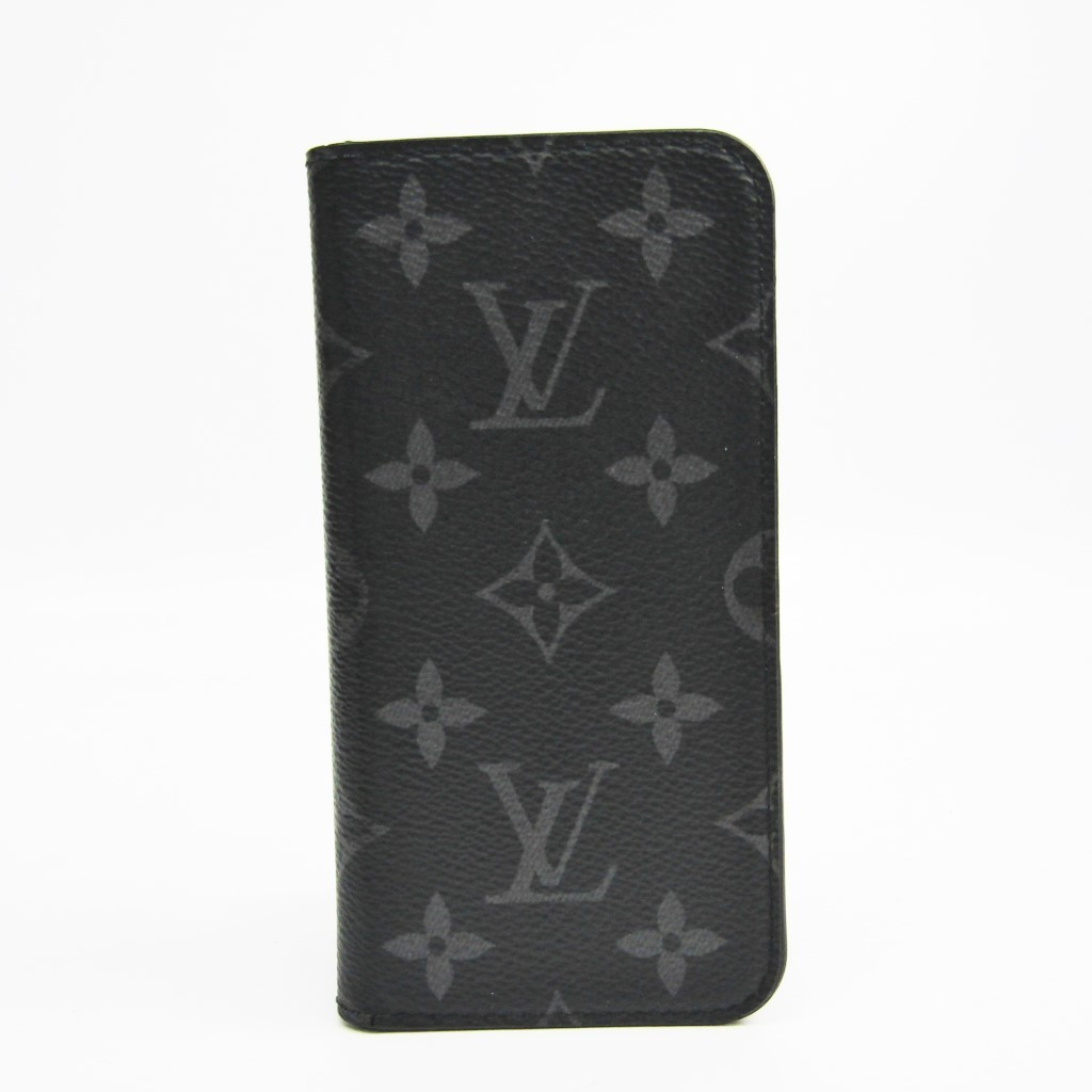 ルイ・ヴィトン(Louis Vuitton) モノグラム・エクリプス モノグラムエクリプス 手帳型/カード入れ付きケース iPhone X 対応 iPhone X & XS・フォリオ M63446 【中古】